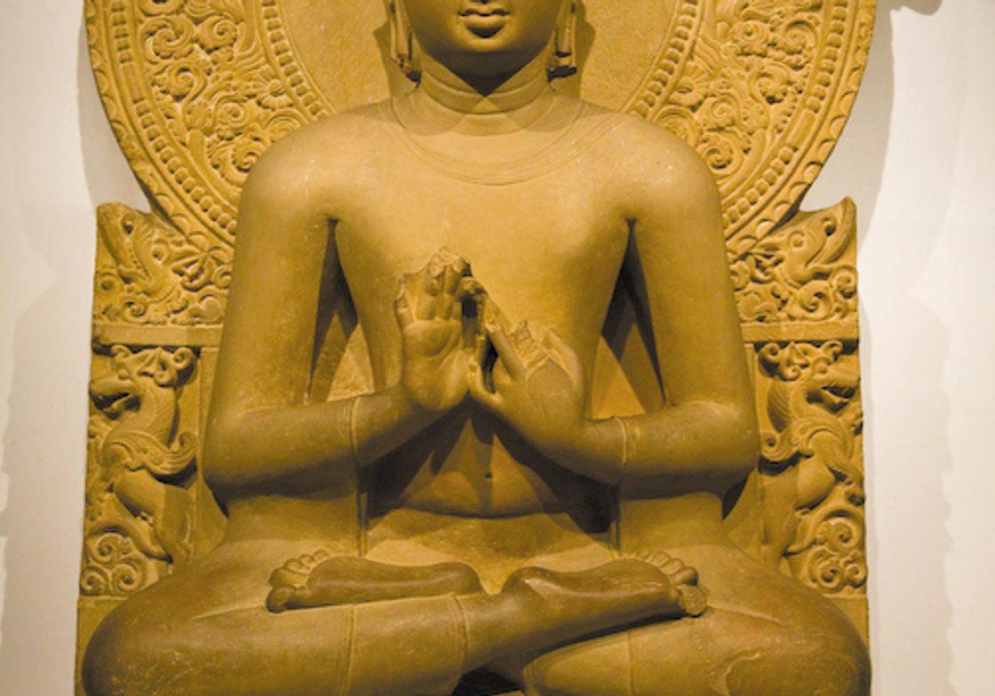 Buddha sculpture at the Sarnath Museum