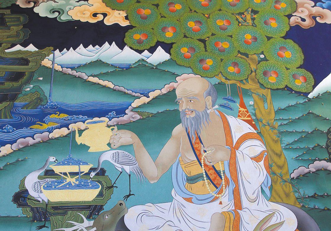 A thangka painting in Punakha