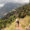 "Travel on the ""path of the Gods"" trail in Agerola to reach Positano."