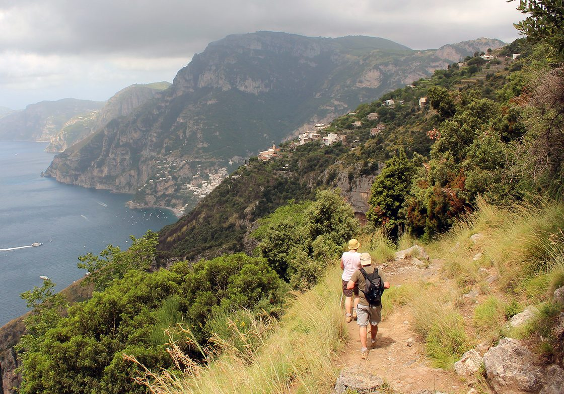 """Travel on the """"path of the Gods"""" trail in Agerola to reach Positano."""
