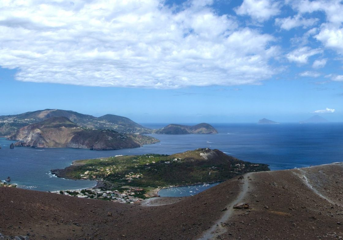A view from Vulcano, one of the seven Aeolian Islands.