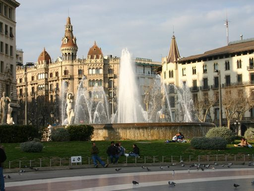 Fountain at Barcelona Plaza.