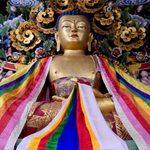 Buddha statue at Bhutanese temple in Bodhgaya