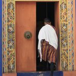 Man at Kurjey Monastery, Bhutan