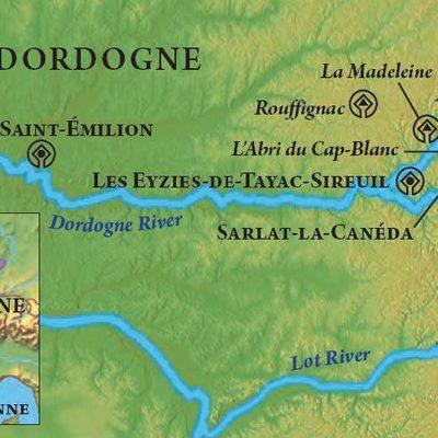 Dordogne itinerary map.