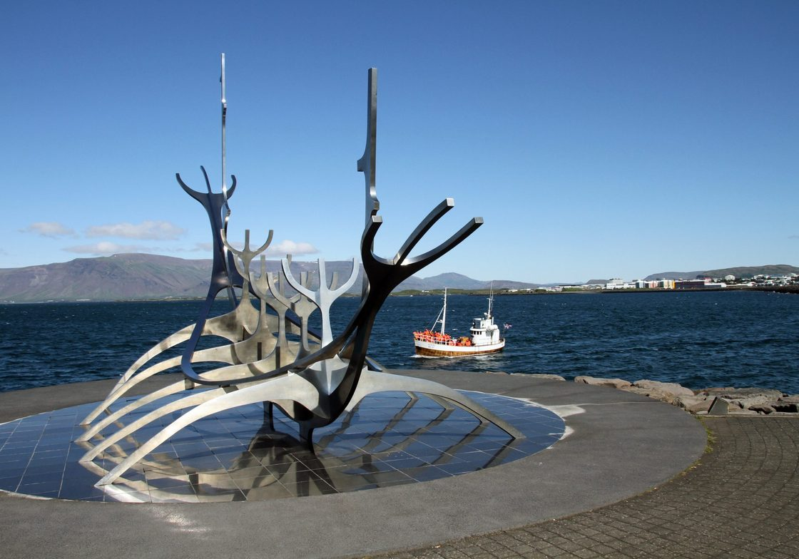 "Reykjavik ""Viking Ship"" sculpture"