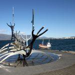 """Reykjavik """"Viking Ship"""" sculpture"""