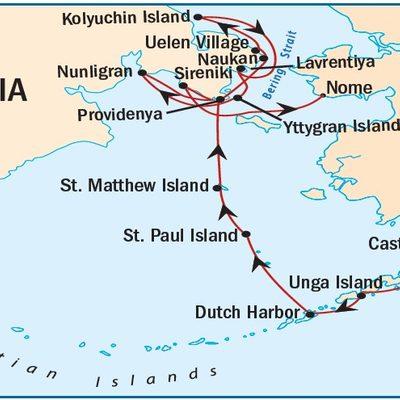 Alaska to Russia_ItineraryMap 2022
