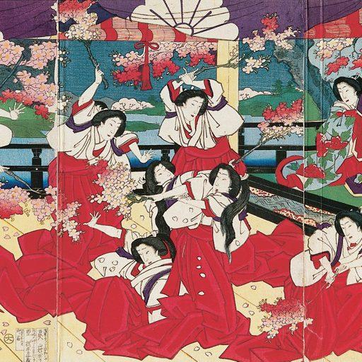 Toyohara Chikanobu, Cherry Blossom Battle