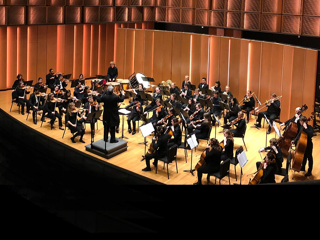 Carleton Orchestra in Kracum Performance Hall