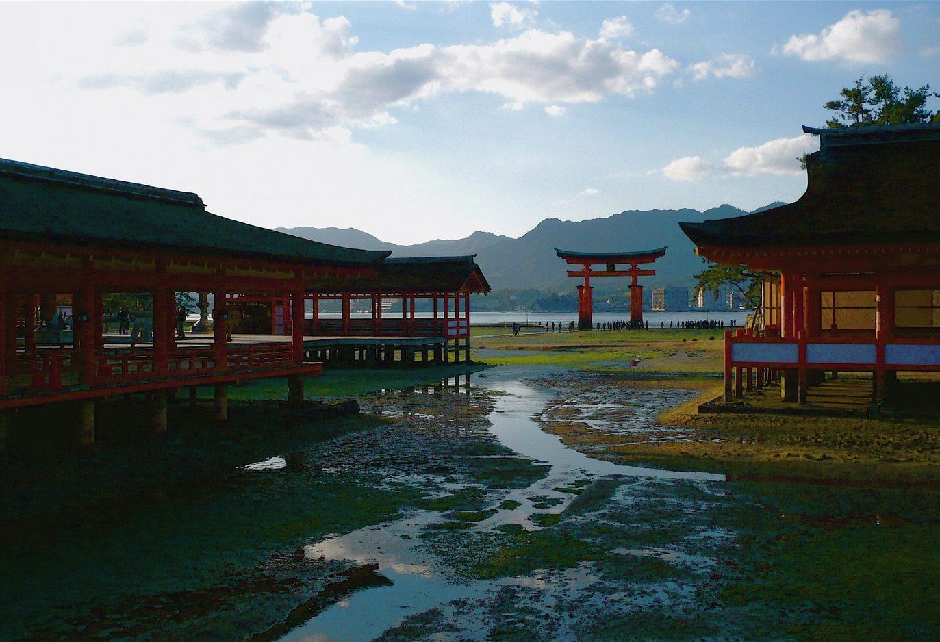 Kansai Gaidai - View from Itsukushima Shrine