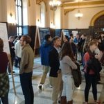 Lively crowd at Comps Poster Presentation