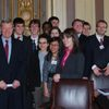 U.S. Senator Max Baucus with Carleton students