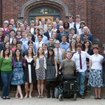 Class of 2011 with faculty and staff at the May 2011 Political Science Senior Dinner
