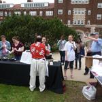 Faculty serve ice cream