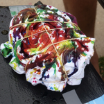Tie-dying T-shirts