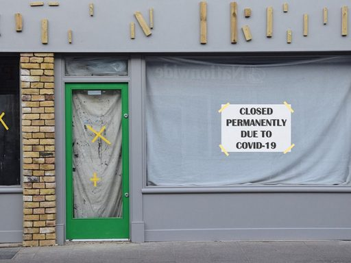 BUSINESS BOARDED UP DURING COVID-19 PANDEMIC
