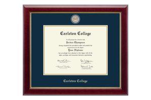 Framed Carleton diploma