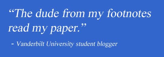 A quote about blogging