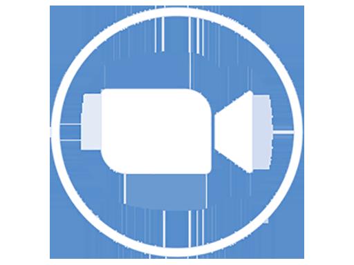 Zoom logo in white