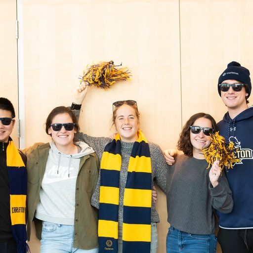 Students celebrate their bright futures wearing Carleton colors