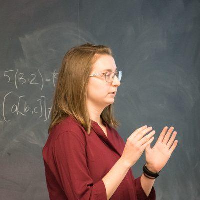 Kyla Pohl explains her research on Leibniz algebras.