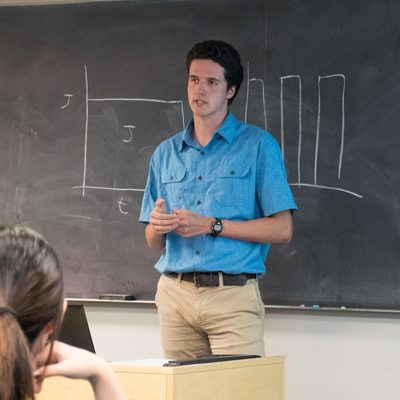 Keenan Ronayne talking about a spectral analysis of a neural field model.