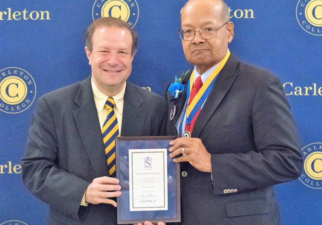 Printice Gary with President Poskanzer