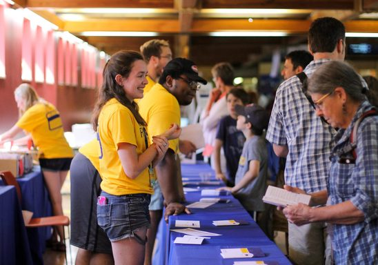 Reunion 2017 check-in in Sayles
