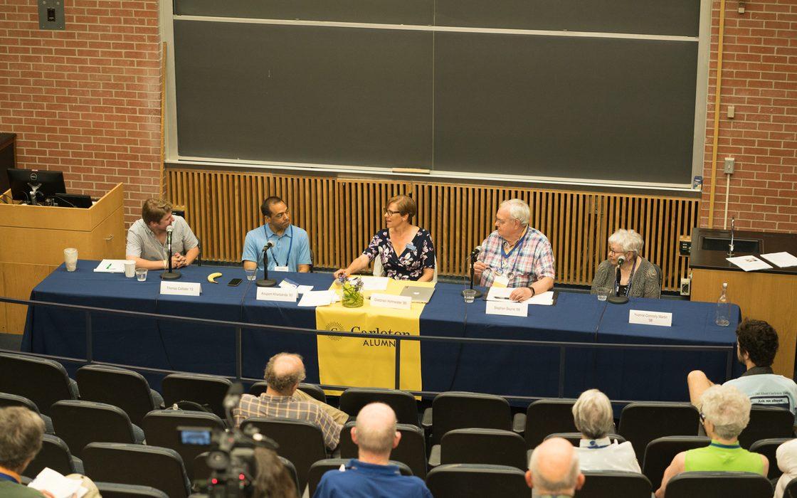 Alumni College Scientists' Symposium in Olin 149