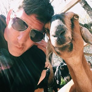 Me with a goat
