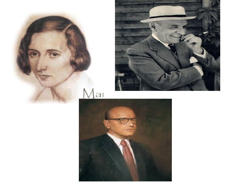 María Zambrano, José Ortega, y José Gaos