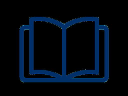 open blue book icon