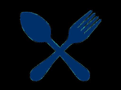 crossed spoon & fork silhouette