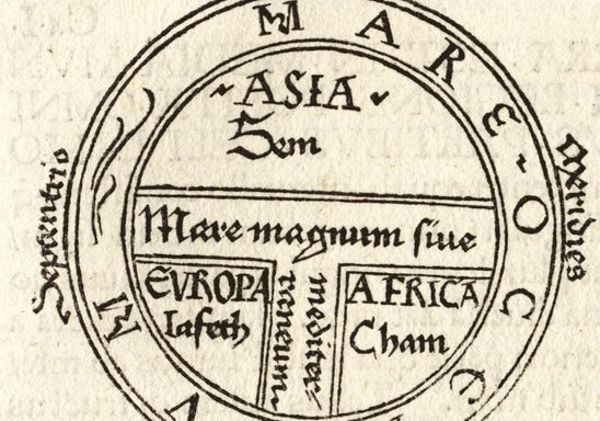 T-O Map from an early printed book