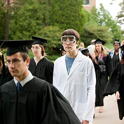 Chemistry student at Commencement