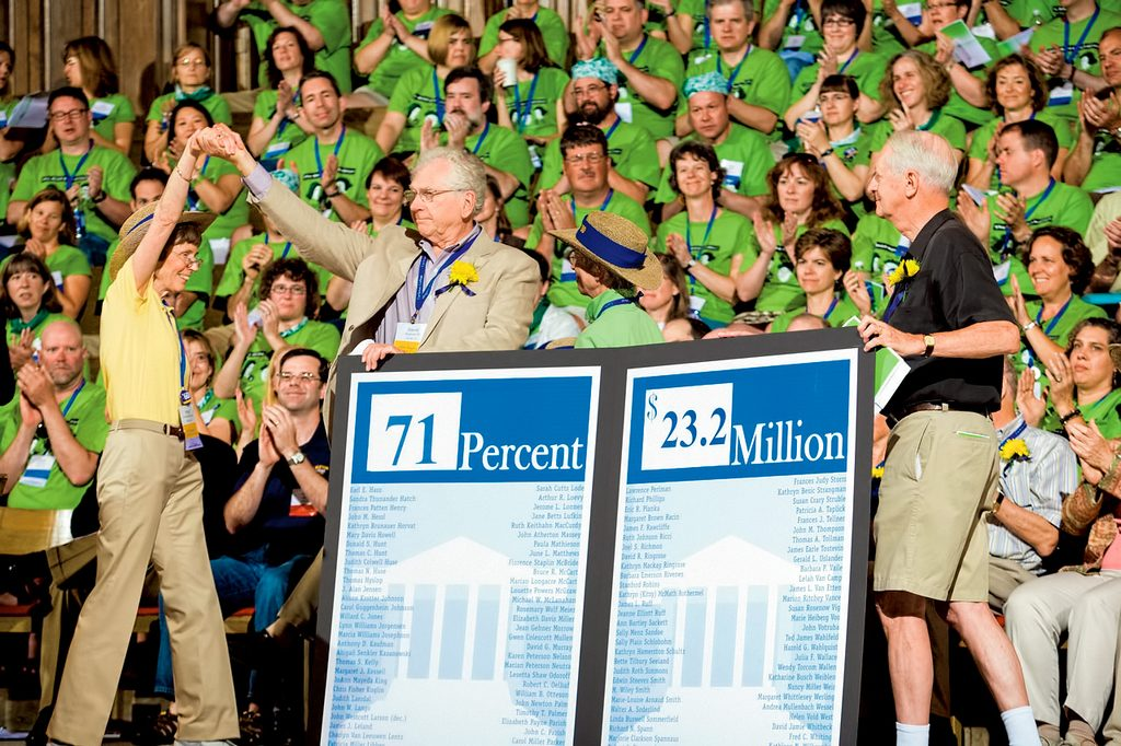 Class of '60 presents their class gift of $23.2M