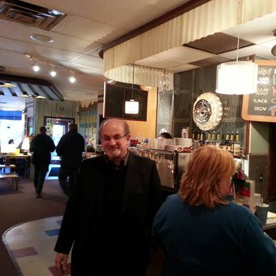Author Salman Rushdie visits Northfield's Goodbye Blue Monday coffee shop