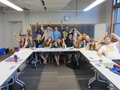 First day of classes in the new Weitz Center for Creativity
